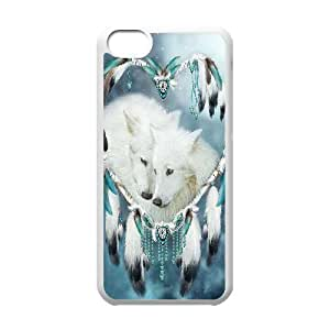 Wolf Dream Catcher Phone Case For Iphone 5C [Pattern-6]