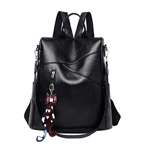 - Dainzuy Women Backpack Purse Waterproof Nylon Bags Ladies Anti-Theft Rucksack Shoulder Fashion Leather Large Travel Bag