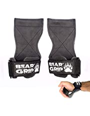 BEAR GRIP Multi Grip Riemen/Haken, Premium Heavy duty gewichtheffen bandjes/handschoenen