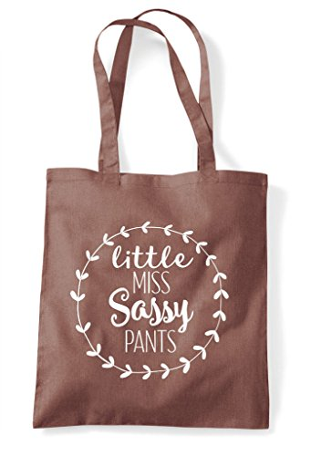 Bag Sassy Chestnut Pants Statement Miss Little Shopper Tote xqa7fXnwBn