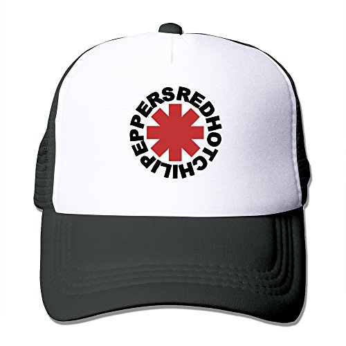 POPYol RHCP Red Hot Chili Peppers Unisex Adjustable Baseball Cap Hat Black (Chili Pepper Hat)