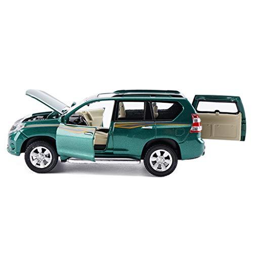 LBYMYB Modelo de automóvil 1: 32 Toyota Prado Vehículo Todoterreno SUV Simulación Aleación Fundición a presión Juguete Adornos Deportes Colección de ...