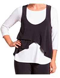 Sympli Womens Sleeveless Crop Smock