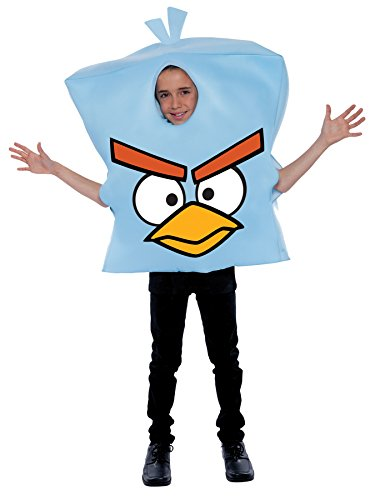 Boy's Rovio Angry Birds Space Ice Bird Child Halloween Costume, Child OS Blue ()