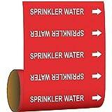 Brady Pipe Marker Sprinkler Water Red