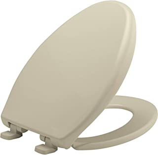 product image for BEMIS 7900TDGSL 006 Heavy Duty Closed Front Plastic Toilet Seat with Cover will Slow Close, Never Loosen & Reduce Call-backs, ELONGATED, Plastic, Bone