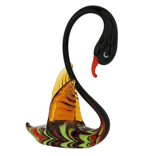 GlassOfVenice Murano Glass Festooned Swan