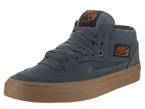 Vans Unisex Half Cab Da (Gum) Dark Slate/Black Skate Shoe 10 Men US / 11.5 Women US