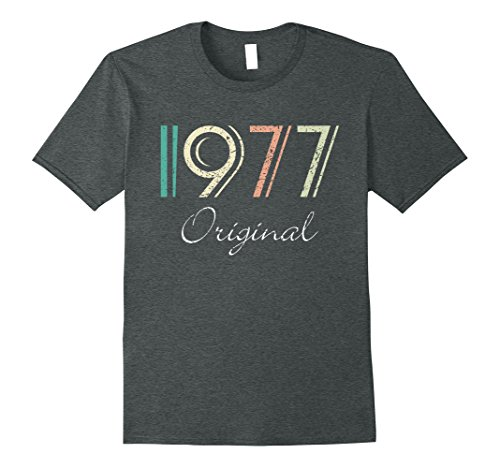 Mens Original 1977 40th Birthday Gift Retro Color Vintage T-Shirt Large Dark Heather