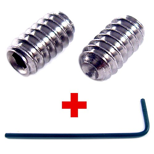 M3 x 5mm Socket Set Grub Screws Cup Point Stainless Steel 10 Pack With 1.5 mm Hex Key Wrench (5mm Length)