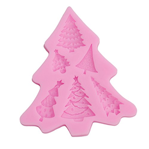 VWH Diy Christmas Trees Cake Molds Fondant Chocolate Silicone Mold Candy Cupcake Pastry Tools