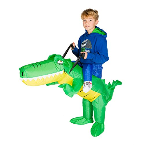 Inflatable T Rex Costume For Sale (Bodysocks - Inflatable Crocodile Piggyback Animal Zoo Children's Fancy Dress Costume)