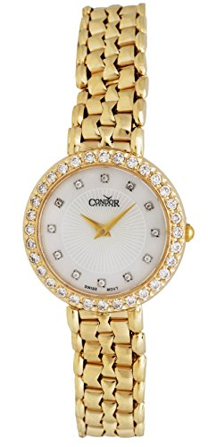 Condor 14kt Gold & Diamond Womens Luxury Swiss Watch Quartz C27HCDMOP 14kt Gold Ladys Wrist Watch