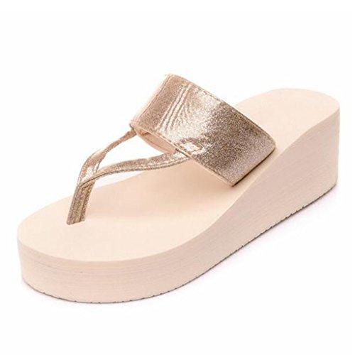 Tacón y Shoes UK5 de Chanclas Oro Beach 5 Pendientes Plata Arena Tamaño Shoes Femeninas Alto La MuMa Color Antideslizantes pies EU38 Cool Zapatillas CN38 Sandalias Sandalias Sandalias con Drag xH454YXq