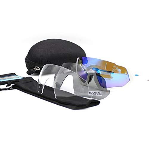 Colorful sea New Cycling Glasses 2019 Polarized Road Bike Sunglasses UV400 Sport Riding Running Bicycle Eyewear MTB ()