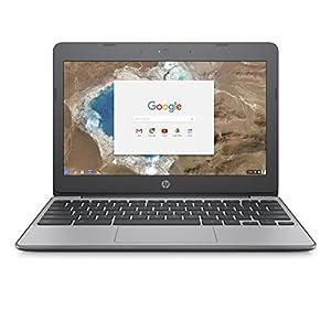 HP Chromebook 11-v001na 11.5 Inch Laptop – (Silver) (Intel N3060, 4 GB RAM, 16 GB eMMC, 100 GB Cloud Storage with Google One (1 Year Subscription) Chrome OS)