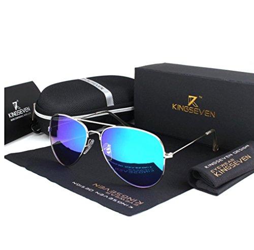 violeta de clásicas espejo aviador Sol De Espejo mujer Azul Mujer Gafas polarizadas piloto Gafas sol Polarizadas mujer Gafas sol de Gafas 4xpSnqwfH4