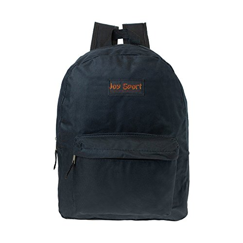 Bulk Case of 36 Bookbags - 15'' Wholesale Kids Classic Backpack in Black by Joy Sport