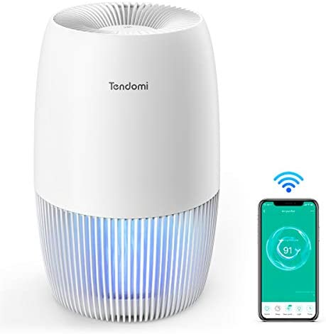 TENDOMI Air Purifier for Home Bedroom Office, True HEPA Smart Air Purifiers with WiFi, Quiet Smart Air Cleaner for Pets, Dust, Timer Schedule, Energy Saving, Work with Google Home and Alexa