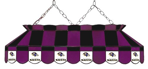 Baltimore Ravens Stained Glass - Imperial Officially Licensed NFL Merchandise: Tiffany-Style Stained Glass Billiard/Pool Table Light, Baltimore Ravens
