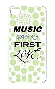 Shock-absorbent Gray Music Was My First Love Music Tee Shirts Case For Iphone 5s Funny Laughing Jokes I Tee Shirt Jokes Geek Funny