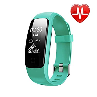 Heart Rate Fitness Tracker Watch, Lintelek Updated Activity Tracker with Multiple Sports Modes, IP67 Waterproof Touch Screen Smart Pedometer for Android and IOS Smart Phones