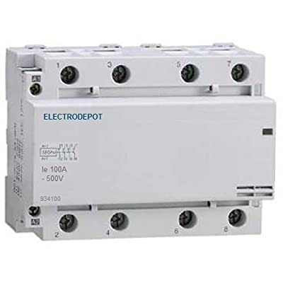 Image of 100 Amp Contactor Normally Closed NC 100A, 4 Pole 120V coil, 110v Lighting, Power, Switching Controls