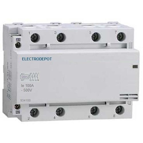 100 Amp Contactor Normally Open NO 100A, 4 Pole, 120V Coil 110v Lighting Power AC, (Open Coil)