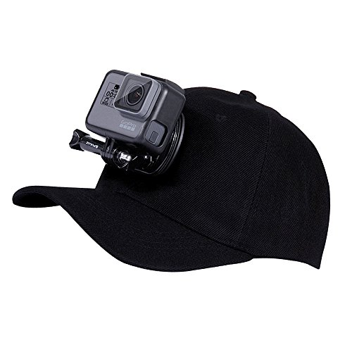 "Baseball Cap Hat Mount for GoPro Camera, SENLIXIN Adjustable Sun Cap Topi Hat With Quick Release Buckle Mount & 1/4"" Screw for All GoPro Session Hero 6 5 4 3+ 3 2 1, SJCAM and Xiaoyi (35 Mm Slide Cleaning)"