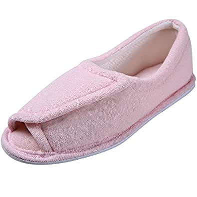 Women's Clinic Comfort Terry Cloth Slippers - Pink - 2X