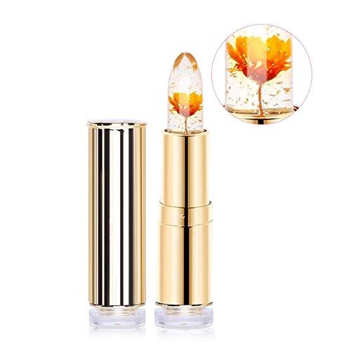 Jelly Lipstick, Htgtai Translucent Moisturizer lipsticks Lips Care Surplus Bright Flower Lipstick - Minute Maid Yellow
