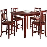 ACME Sonata Cherrry Counter Height Set 5 Piece