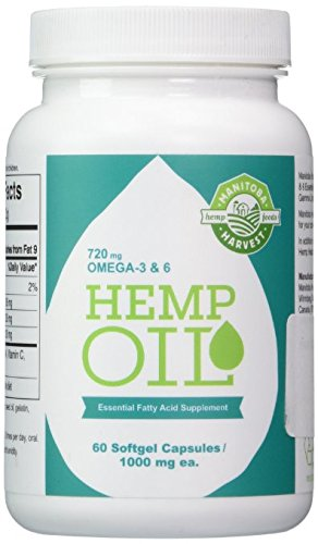 Manitoba Harvest Hemp Oil, 60 Softgel Capsules (Pack of 3)