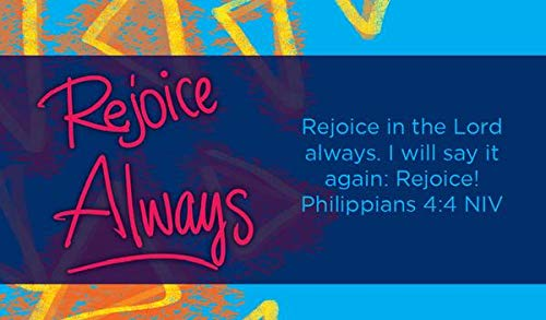 Children's Christian Pass Along Pocket Scripture Cards - Rejoice Always | Philippians 4:4 | Pack of -