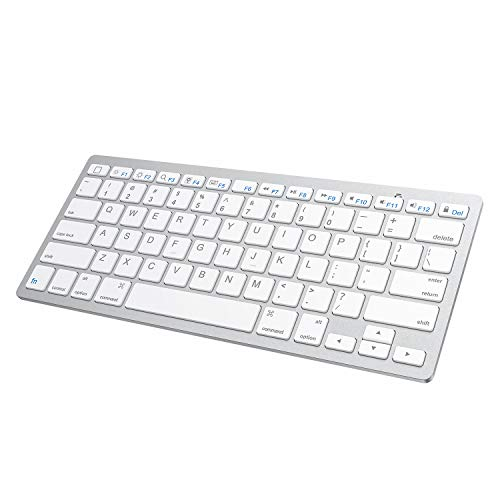 SPARIN Bluetooth Wireless Keyboard, iPad Bluetooth Keyboard for iPad Pro 12.9, New iPad 9.7 Inch,iPad 2018(6th Gen),iPad Air/iPad Mini and Other Bluetooth Enable iPads/iPhones, White
