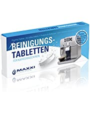 Maxxi Clean 10 reinigingstabletten voor koffiemachines en koffiemachines, reinigingstabs als koffievetoplosser voor het reinigen van Jura, Krups, Siemens, WMF, Miele, Tassimo