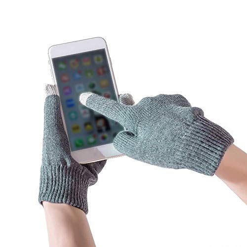 Price comparison product image Euone  Gloves Clearance , Womens Mens Winter Cashmere Knit Gloves Touchscreen Fingers Screen Warm Fleece Gloves (Grey)