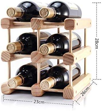 Estantería de vino Sólido de vino de madera del estante de la decoración DIY de madera creativa del estante del vino se pueden montar estante de exhibición de pino Multi-botella de vino en rack rack d