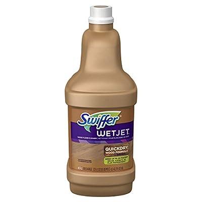 Swiffer WetJet Wood Floor Cleaner Solution Refill, Multi-purpose Blossom Breeze Scent Wet Jet Refills, 1.25 Liter (Pack of 6)
