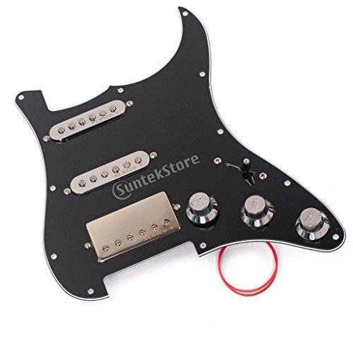 Baoblaze 1 Set Wired Alnico 5 Humbucker Pickup Pickguard Protector SSH for Strat Electric Guitar Accessory ()