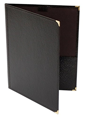 (Deer River Choral Leatherette Folio With Pencil Loop Bottom Pockets Black 9x12 )