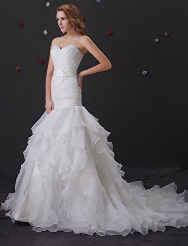 Sposa Per Lunghi Besswedding Abiti Da Bianco Col Da A Abiti Sirena 2016 Spose Sposa Le Pizzo q77pWABRIw