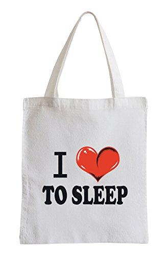 Mi piace dormire Fun sacchetto di iuta