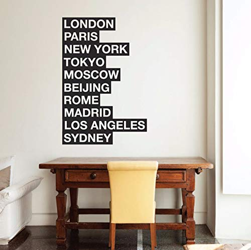 Dalxsh Cities of The World Wall Sticker Mural London Art Decal New York Wall Decorations Living Room Paris Bedroom Home Decor -