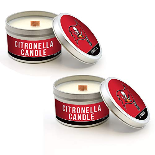 Worthy Promo Tampa Bay Buccaneers Tailgate Citronella Candle 2-Pack, Bug Repellent