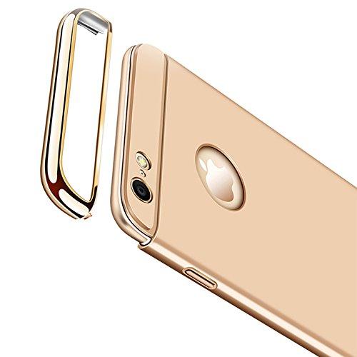 iPhone 66S Plus Custodia, mygadz 3in 1Full Cover Case 360completo di protezione fotocamera custodia rigida per iPhone 66S Plus in oro, Cabina 5,5pollici