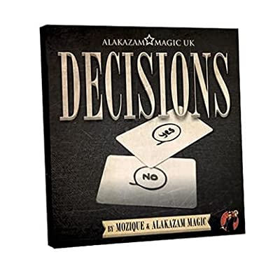 Alakazam UK Magic Trick | Decisions Yes/No Edition (DVD and Gimmick) by Mozique | Close Up | Mentalism: Toys & Games