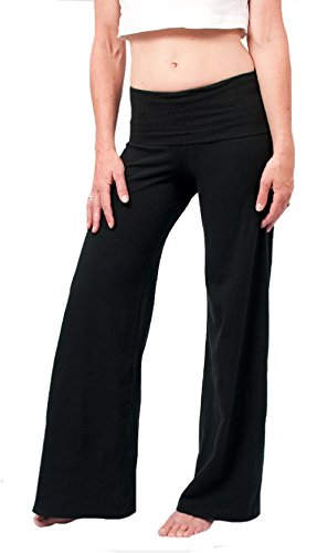 Hard Tail Contour Rolldown Wide Leg Yoga Pants - Black (S, Black)