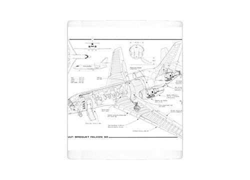 Mug of Dassault Falcon 50 MC Cutaway Drawing (4507199)