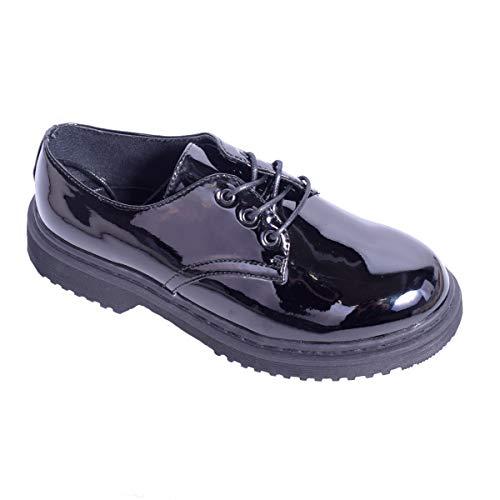 Chaussures Shoes Noir à Ville Femme Lacets Clothing pour amp; de Verni LAW dtnaq1q